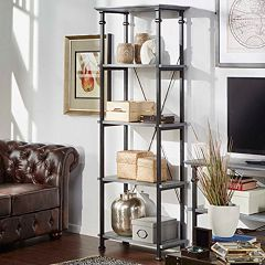 HomeVance Derry Narrow 4-Shelf Bookcase