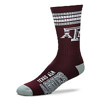 Adult For Bare Feet Texas A&M Aggies Deuce Striped Crew Socks