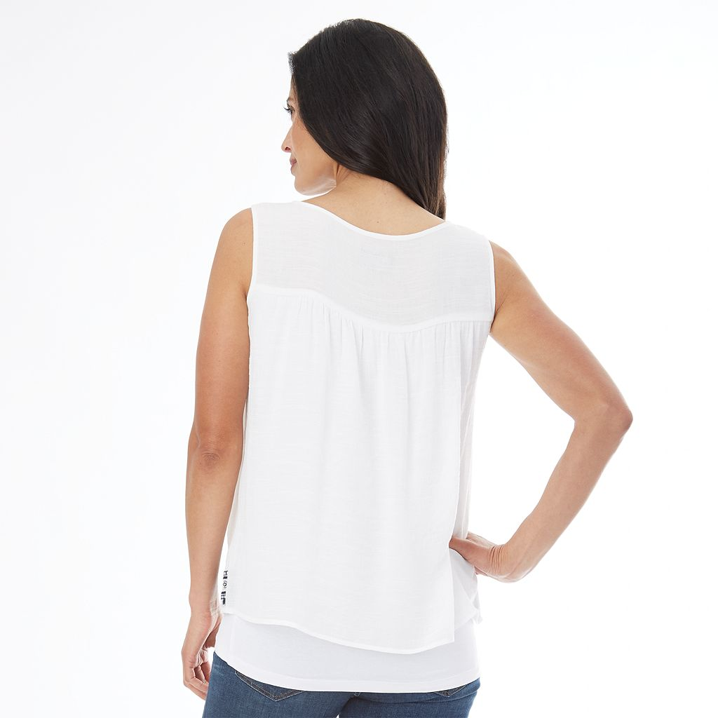 Women's AB Studio Embroidered-Trim Tank