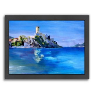 """Americanflat """"Malcesine With Castello Scaligero 2"""" Framed Wall Art"""