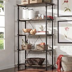HomeVance Derry Wide 4-Shelf Bookcase