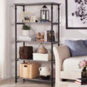 HomeVance Derry Wide 4-Shelf Bookcase