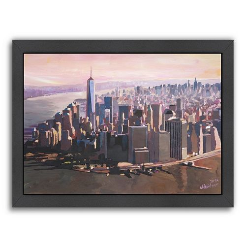 "Americanflat ""Manhattan Freedom"" Framed Wall Art"