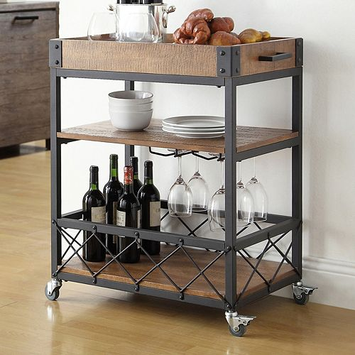 HomeVance Derry Bar Cart