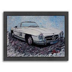 Americanflat 'Mercedes Cabrio' Framed Wall Art