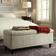 HomeVance Jolie Tufted Storage Ottoman