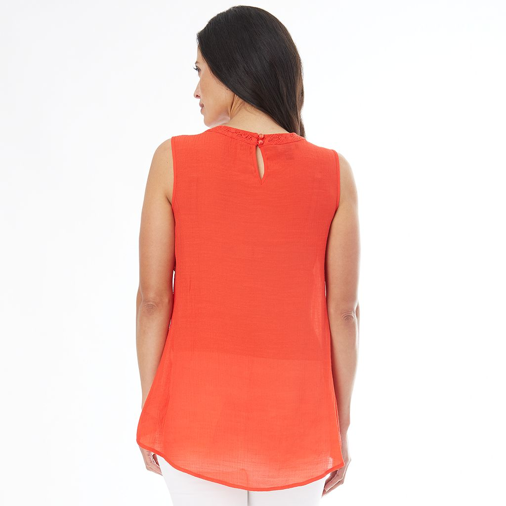 Women's AB Studio Ruffled Tank