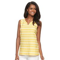 Women's Croft & Barrow® Striped Jacquard Tank Top