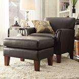 HomeVance Remmington Arm Chair & Ottoman 2-piece Set