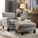 HomeVance Remmington Arm Chair & Ottoman 2 pc Set