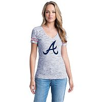 Women's Atlanta Braves Space-Dyed Tee