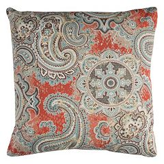 Rizzy Home Houssie Paisley Indoor Outdoor Throw Pillow