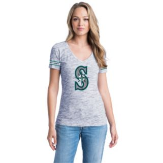 Women's Seattle Mariners Space-Dyed Tee