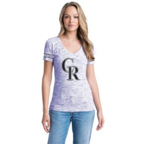 Women's Colorado Rockies Space-Dyed Tee