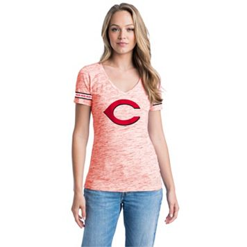 Women's Cincinnati Reds Space-Dyed Tee