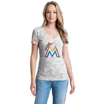 Women's Miami Marlins Space-Dyed Tee