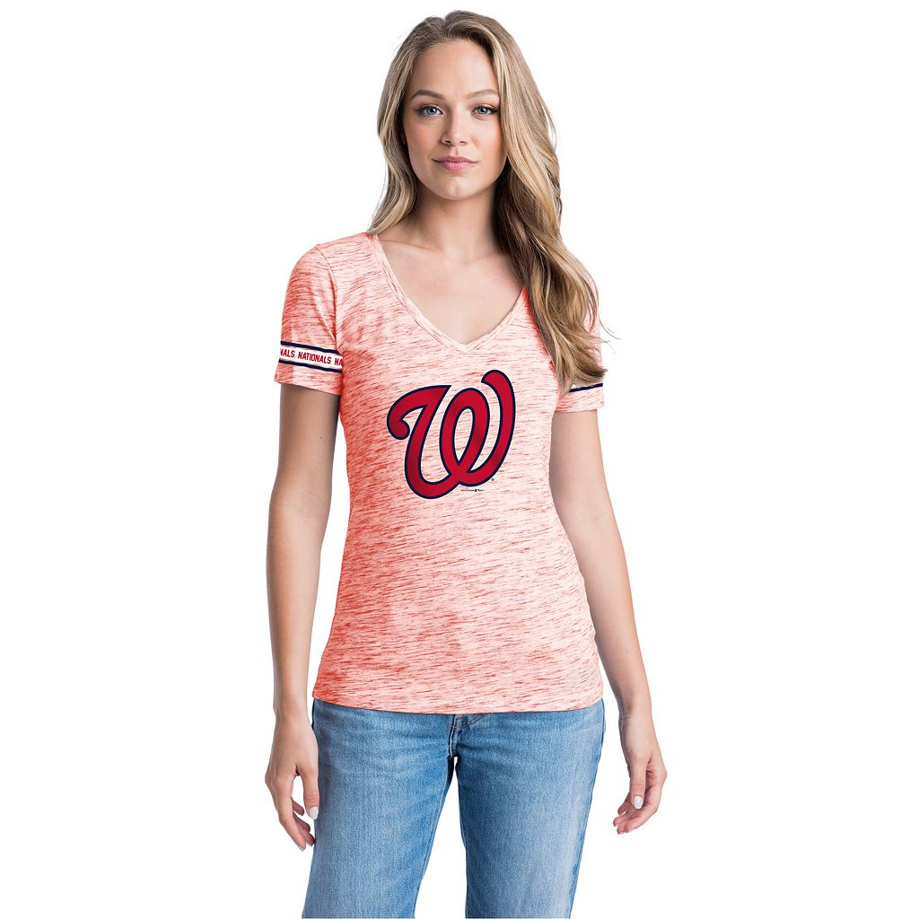 Women's Washington Nationals Space-Dyed Tee