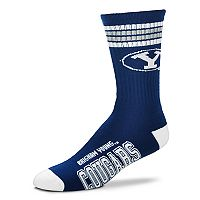 Adult For Bare Feet BYU Cougars Deuce Striped Crew Socks