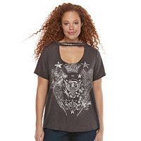 Plus Size Rock & Republic® Cut-Out Trim Tee