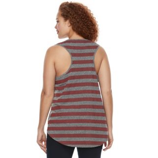 Plus Size Rock & Republic® Stars & Stripes Racerback Tank