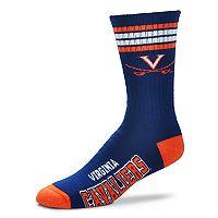 Adult For Bare Feet Virginia Cavaliers Deuce Striped Crew Socks