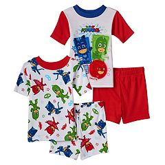 Toddler Boy PJ Masks 4 pc Glow-in-the-Dark Owlette, Gekko & Catboy Pajama Set