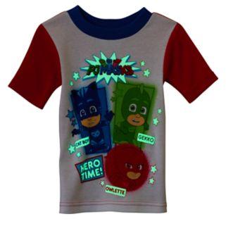 Toddler Boy PJ Masks 4-pc. Glow-in-the-Dark Owlette, Gekko & Catboy Pajama Set