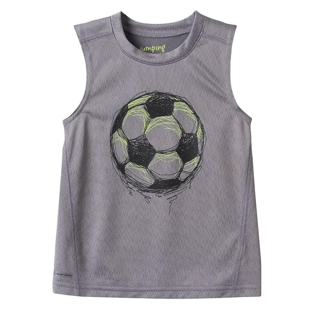 Toddler Boy Jumping Beans® Play Cool Sporty Muscle Tee