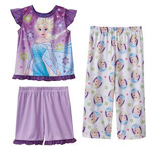 Disney's Frozen Anna & Elsa Toddler Girl 3-pc. Pajama Set