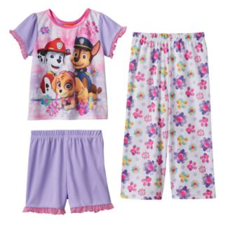 Toddler Girl Paw Patrol Skye, Chase & Marshall 3-pc. Pajama Set