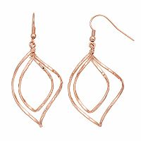Apt. 9® Textured Nickel Free Twist Drop Earrings
