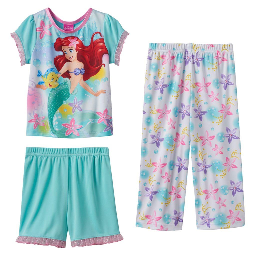Disney's The Little Mermaid Ariel & Flounder 3-pc. Pajama Set