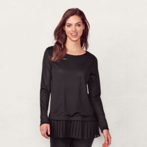 Women's LC Lauren Conrad Mock-Layer Pleated Tunic