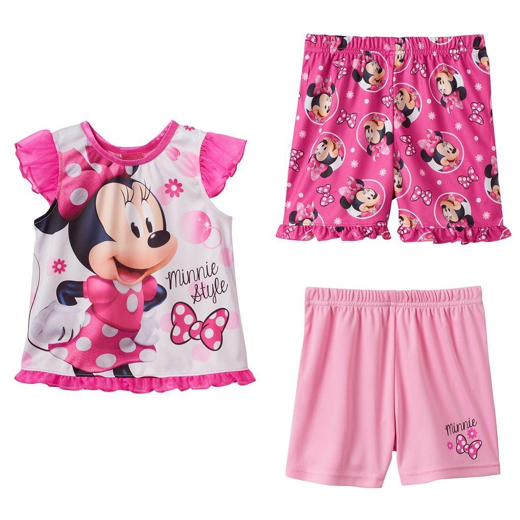 Disney's Minnie Mouse Toddler Girl 3-pc. Pajama Set