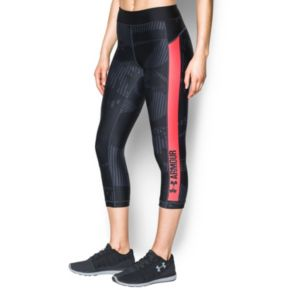 Women's Under Armour Printed Performance Capri Leggings