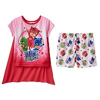 Toddler Girl PJ Masks Catboy, Gekko & Owlette 3-pc. Cape Pajama Set