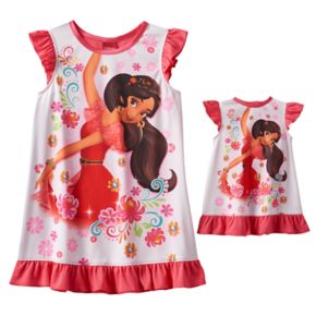 Disney's Elena of Avalor Toddler Girl Graphic Dorm Nightgown & Doll Gown Set