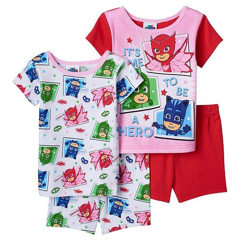 Toddler Girl PJ Masks 4-pc. Owlette, Gekko & Catboy Pajama Set