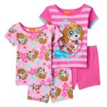 Toddler Girl Paw Patrol Skye, Rubble, Chase & Marshall 4-pc. Pajama Set