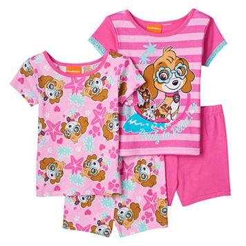 Toddler Girl Paw Patrol Skye, Rubble, Chase & Marshall 4-pc. Pajama Set