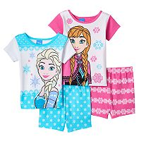 Disney's Frozen Elsa & Anna Toddler Girl 4 pc Pajama Set