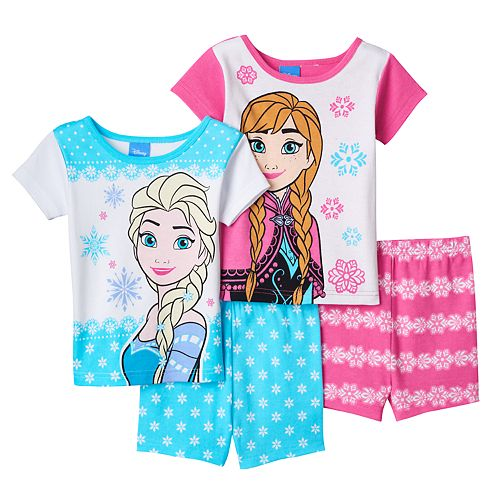 a1542a25d8 Disney s Frozen Elsa   Anna Toddler Girl 4-pc. Pajama Set