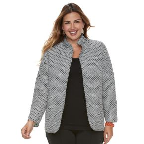 Plus Size Napa Valley Reversible Quilted Jacket