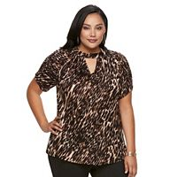 Plus Size Jennifer Lopez Keyhole Top