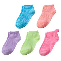Girls 4-16 Space-Dyed 5 pkCrew Socks