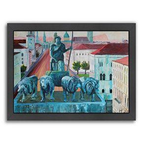 """Americanflat """"Munchen Siegestor"""" Framed Wall Art"""