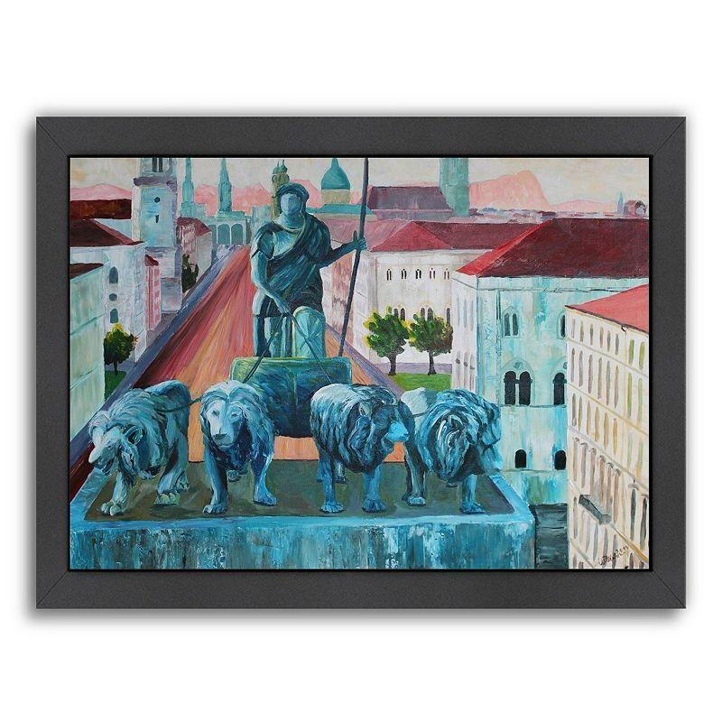 """Americanflat """"Munchen Siegestor"""" Framed Wall Art, Medium"""