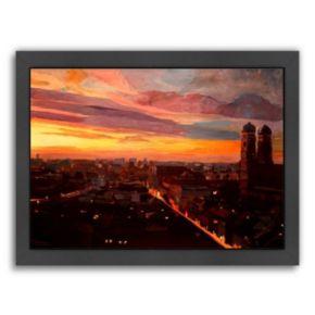 "Americanflat ""Munich Night 3"" Framed Wall Art"