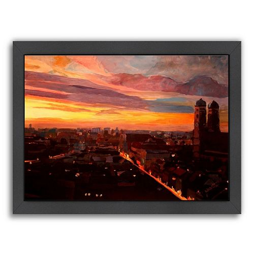 "Americanflat ""Munich Night 3"" Framed Wall Art"