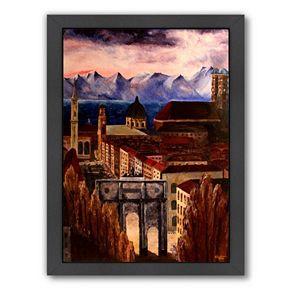 Americanflat ''Munich Alps'' Framed Wall Art